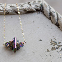 Rainbow Titanium Quartz Necklace