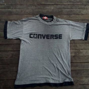 Converse All Star Authentic big logo T-shirt vintage Boston mass
