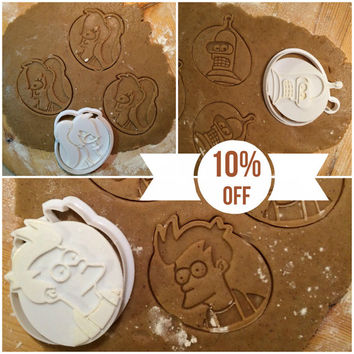 Futurama Collection (Set) cookie cutters