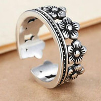 vintage womens floral ring gift 24