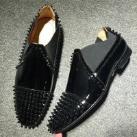 DCCK2 Cl Christian Louboutin Loafer Style #2396 Sneakers Fashion Shoes