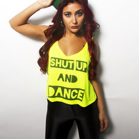 Shut Up and Dance | Women's Tank - Bad Kids Collective
