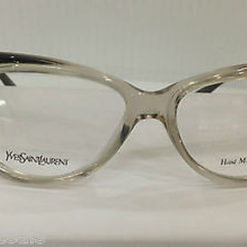 NEW AUTHENTIC YVES SAINT LAURENT EYEGLASSES YSL 6362 COL EHF GREY EYEGLASSES