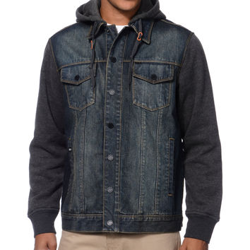 Dravus Burbank Denim & Fleece Hooded Jacket at Zumiez : PDP