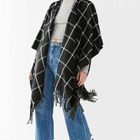 Plaid Poncho | Urban Outfitters