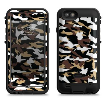 The Green-Tan & White Traditional Camouflage  iPhone 6/6s Plus LifeProof Fre POWER Case Skin Kit