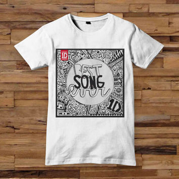 One Direction best song ever T shirt White Black Dsign t-shirt men S,M,L,XL