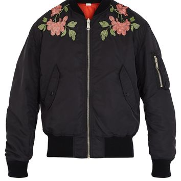 Floral-embroidered reversible bomber jacket | Gucci | MATCHESFASHION.COM UK