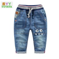 Cartoon Holes Kids Denim Jeans Pants 2018 Spring Casual Baby Jeans Children's Clothes Girls Jeans for Boys Kids Long Trousers