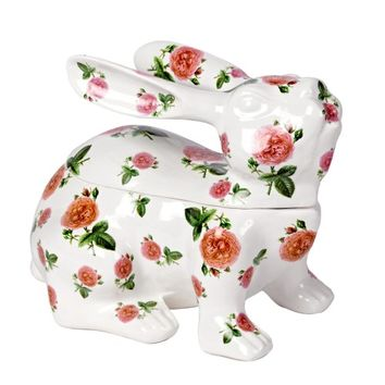 Rosy Rabbit Deco Pot