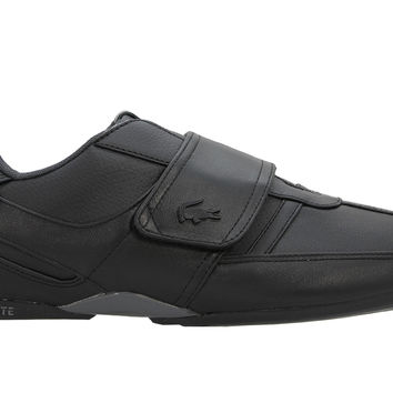 Lacoste Protected Leather Trainer - Black