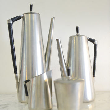 Danish Modern Mid Century Pewter Tea/Coffee Set by Royal Holland