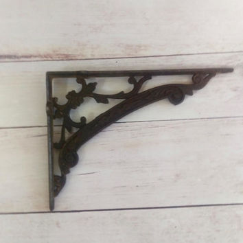 Brackets/ Shelf Brackets/ Art Deco Brackets/ Victorian Cast Iron Brackets/ Cast Iron Brackets/ Art Nouveau Architectural Salvage/ Art Deco