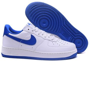 """Nike ""Low to help men's shoes air force  sandals leisure sports shoes Blue-white"