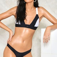 Strapped In Monochrome Bikini Set | Shop Clothes at Nasty Gal!