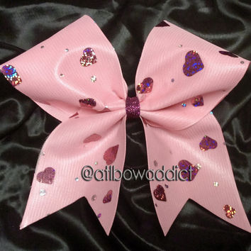 Cheer Bow - Valentine Hearts