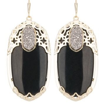 Deva Statement Earrings in Black Twilight - Kendra Scott Jewelry