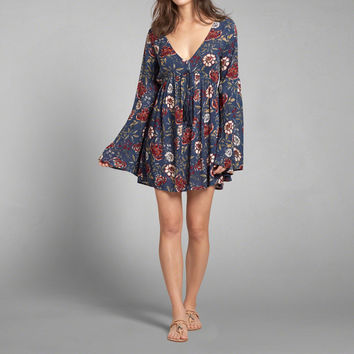 Bell Sleeve Caftan Dress