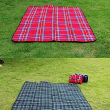 "59"" X 79"" Waterproof Outdoor Picnic Camping Moistureproof Mat Plaid Blanket H8798 Travel Accessories = 1651187332"