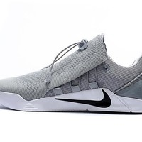 vawa nike zoom men s kobe elite low flyknit basketball shoes grey  number 1