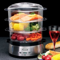 Deni 7600 Stainless Steel 3 Tier Food Steamer | www.hayneedle.com