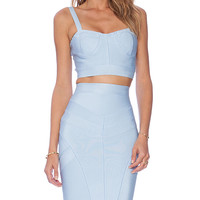 ASILIO Sky High Top and Skirt Set in Blue