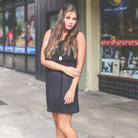 Layered and Ruffled Dress in Black