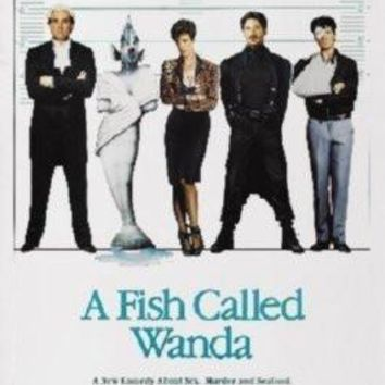 A Fish Called Wanda Movie poster Metal Sign Wall Art 8in x 12in