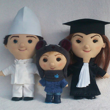 Unique Custom doll Family-  Selfie doll,  caracter doll, rag doll, art doll, personalized doll