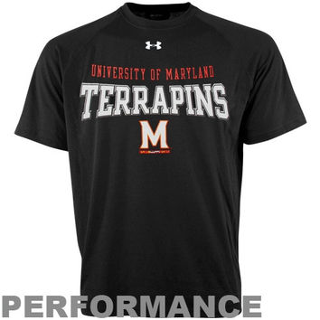 Under Armour Maryland Terrapins Performance T-Shirt - Black