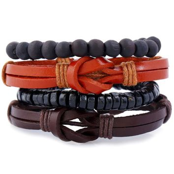 Awesome Shiny Gift Stylish Great Deal New Arrival Hot Sale Handcrafts Leather Bracelet [250988363805]