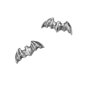 Alchemy Gothic Vampire Bat Stud Earrings