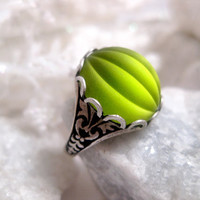 Green With Envy Gothic Ring
