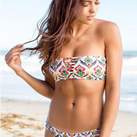 Floral Print Bikini Push up Swimsuit Bandage Bikini Set