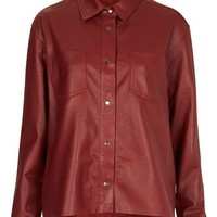Topshop 'The Collection Starring Kate Bosworth' Leather Shirt | Nordstrom