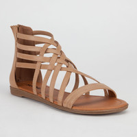 Soda Gladiator Womens Sandals Natural  In Sizes