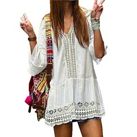 Boho Casual Crochet Dress