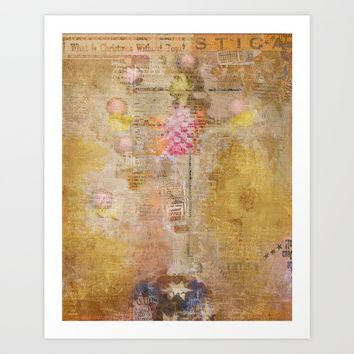the juggler Art Print by Ganech joe