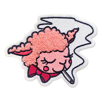 Smoking Lamb Chenille Patch