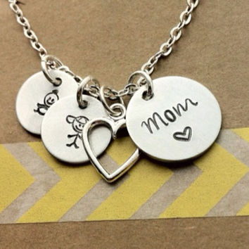 Mom Necklace, Family Necklace, Mothers Necklace, Mommy Necklace - Personalized Necklace - Gift for Mom,