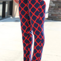 In The Clear Pants - Red + Navy