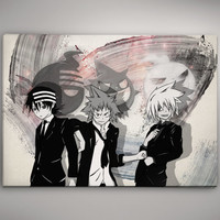 Soul Eater Anime Manga  Watercolor Print Poster Gift  11.70 x 16.50 A3 No296