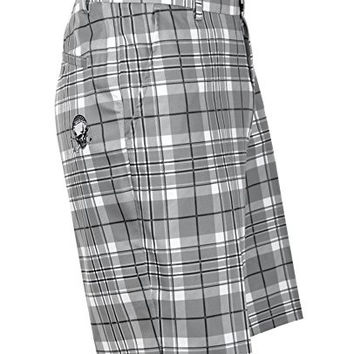Tattoo Golf OB Performance Men's 11.75-inch Golf Shorts - Grey Plaid, Size 40W