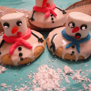 Melting snowman cookie - one dozen