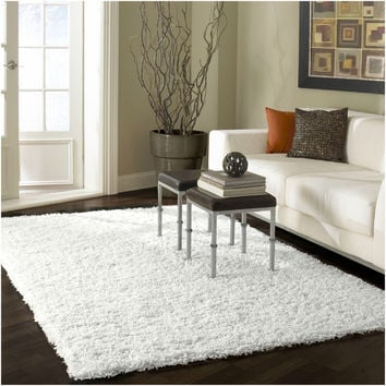 nuLOOM Alexa My Soft and Plush Solid White Shag Rug (3'2 x 5') | Overstock.com Shopping - The Best Deals on 3x5 - 4x6 Rugs