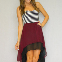 Game Day Beauty Dress (Maroon) | Girly Girl Boutique