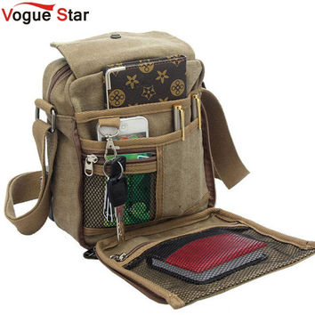 Vogue Star Hot sale men's messenger bags men travel bags canvas bag cross-body bag high quality pouch men purse YB40-419