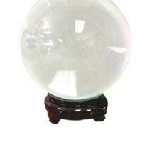 Quartz Clear Crystal Ball with stand