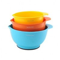 KitchenAid Classic Mixing Bowls, Assorted Colors, Set of 3