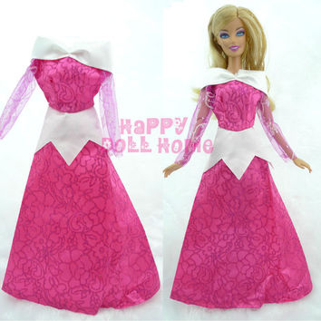 Princess Wedding Dress Fairy Tale Gown Copy Sleeping Beauty Aurora Clothes Outfit For
